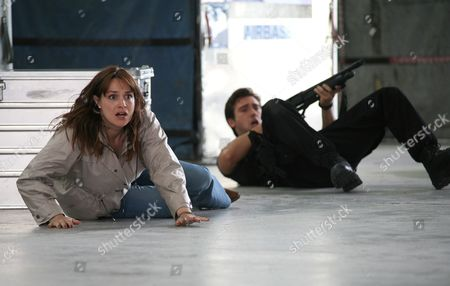 'Primeval' TV programme - Series 3: Lucy Brown and Ben Mansfield