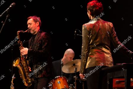 Stock Photo of Stacey Kent, Jim Tomlinson, saxophone