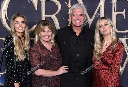 Phillip Schofield, Stephanie Lowe, Molly Lowe and Ruby Lowe