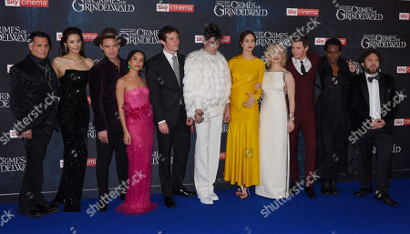 Johnny Depp, Claudia Kim, Jude Law, Zoe Kravitz, Callum Turner, Ezra Miller, Katherine Waterston, Alison Sudol, Eddie Redmayne, William Nadylam and Dan Fogler