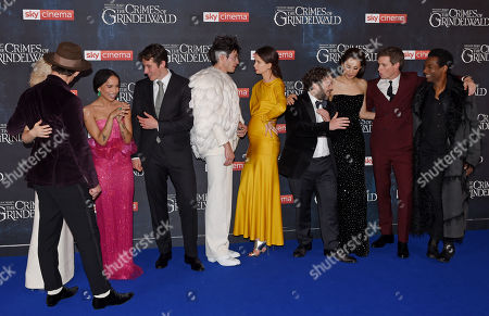 Jude Law, Alison Sudol, Zoe Kravitz, Callum Turner, Ezra Miller, Katherine Waterston, Dan Fogler, Claudia Kim, Eddie Redmayne and William Nadylam