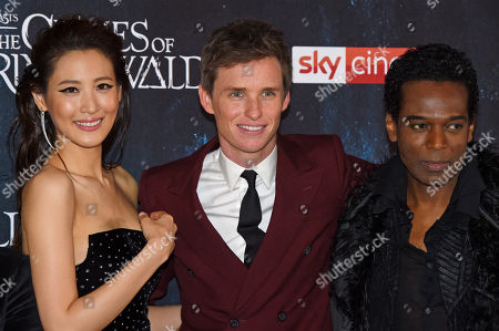 Claudia Kim, Eddie Redmayne and William Nadylam