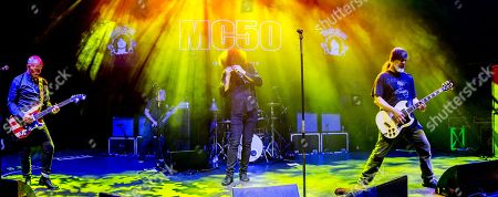 Stock Image of MC50 - Wayne Kramer (of MC5), Billy Gould (of Faith No More), Brendan Canty (of Fugazi), Marcus Durant (of Zen Gurilla), Kim Thayil (of Soundgarden),