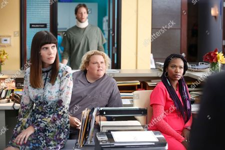 Tipper Newton as Karen, Fortune Feimster as Colette Kimball-Kinney, Ike Barinholtz as Morgan Tookers and Xosha Roquemore as Tamra Webb
