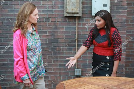 Beth Grant as Beverly and Mindy Kaling as Dr. Mindy Lahiri