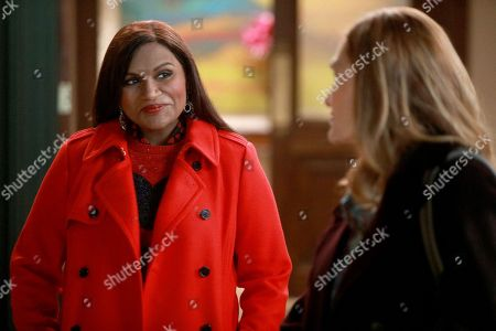 Mindy Kaling as Dr. Mindy Lahiri and Beth Grant as Beverly
