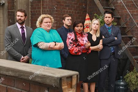 Garret Dillahunt as Jody Kimball-Kinney, Fortune Feimster as Colette Kimball-Kinney, Mark Duplass as Brendan Deslaurier, Mindy Kaling as Dr. Mindy Lahiri, Rebecca Rittenhouse as Anna and Ed Weeks as J Reed