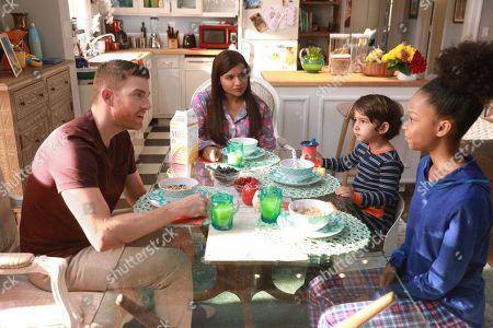Bryan Greenberg as Ben, Mindy Kaling as Dr. Mindy Lahiri, Elias Janssen as Leo and Brianna Reed as Lindsay