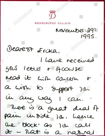 Auction of Princess Diana letter, Los Angeles