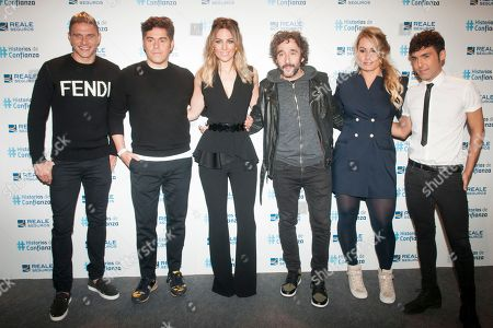 Real Betis' player Joaquin Sanchez, Spanish athlete competing in weightlifting Lidia Valentin, Spanish singer Edurne Garcia Almagro (Manchester United's goalkeeper David De Gea's wife), Magician Pop, Fashion designer Jorge Vazquez and chef Diego Guerrero