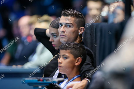 Stock Photo of Cristiano Ronaldo and Cristiano Ronaldo Jr.