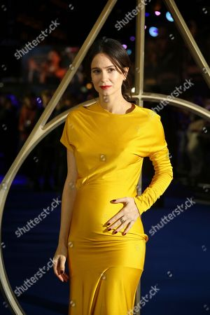 Katherine Waterston poses for photographers upon arrival at the premiere of the film 'Fantastic Beasts: The Crimes of Grindelwald', at a central London cinema