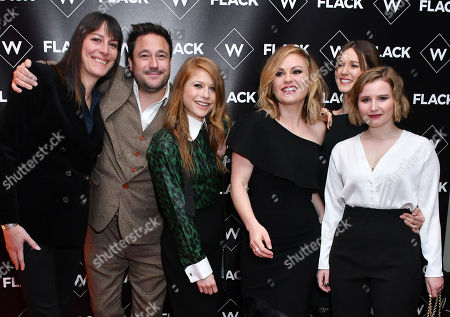 Stock Image of Rebecca Root, Rufus Jones, Genevieve Angelson, Anna Paquin, Lydia Wilson, Rebecca Benson