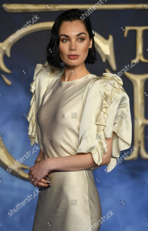 Poppy Corby-Tuech arrives at the UK premiere of Fantastic Beats the Crimes of Grindelwald in London, Britain, 13 November 2018.