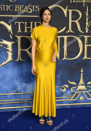 Katherine Waterston arrives at the UK premiere of Fantastic Beats the Crimes of Grindelwald in London, Britain, 13 November 2018.