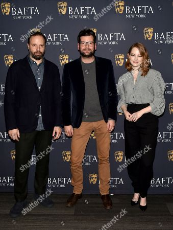 Stock Picture of Yorgos Lanthimos, Luke Parker Bowles and Emma Stone