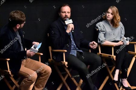 Stock Photo of Luke Parker Bowles, Yorgos Lanthimos and Emma Stone