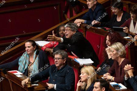 Caroline Fiat, Jean-Luc Melenchon, Eric Coquerel