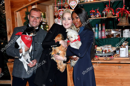 Dieter Ehrengruber and Kathrin Glock and Naomi Campbell