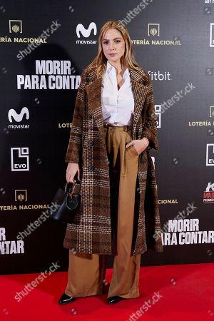Editorial picture of 'Morir para contar' film premiere, Madrid, Spain - 13 Nov 2018