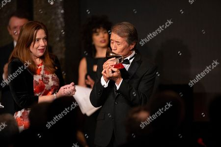 Stock Image of Jose Maria Napoleon receives the Lifetime Achievement award