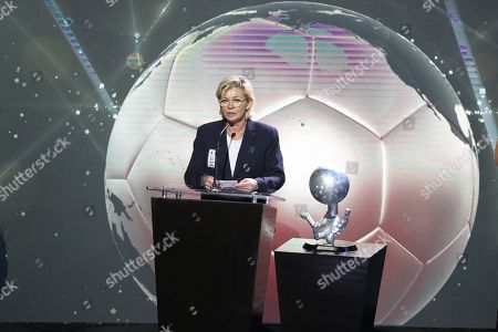 Former German soccer player and coach Silvia Neid is honored during the Pachuca 2018 Hall of Fame Investiture Ceremony in the City of Pachuca, Mexico, 13 November 2018. World champions Roberto Rivelino, 'Cafu', Juan Alberto Schiaffino and Carlos Salvador Bilardo were among the most notable personalities enthroned today in the Mexican soccer hall of fame.