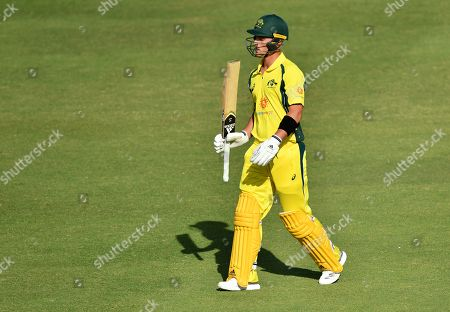 Ben McDermott of the Cricket Australia XI is seen walking from the field after being run out during the T20 tour match between the Cricket Australia XI and South Africa played at Allan Border Field in Brisbane, Australia, 14 November 2018.