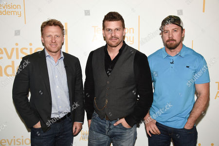 Kevin McKidd, David Boreanaz, Tyler Grey. From left to right, actor Kevin McKidd, actor David Boreanaz, and Tyler Grey at the Veterans Day: Television and the Military Experience, a special Television Academy member event, on at the Saban Media Center in North Hollywood, Calif