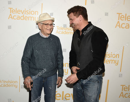 Norman Lear, David Boreanaz. Norman Lear, left, and David Boreanaz at the Veterans Day: Television and the Military Experience, a special Television Academy member event, on at the Saban Media Center in North Hollywood, Calif
