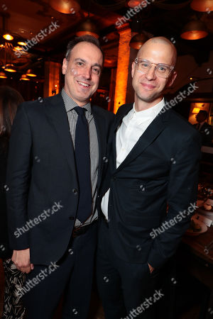 Stock Image of Matt Manfredi, Writer/Producer, Theodore Shapiro, Composer,