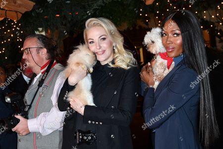 Kathrin Glock and Naomi Campbell
