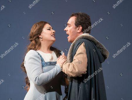 Francesco Meli as Gabriele Adorno, Hrachuhi Bassenez as Amelia Grimaldi