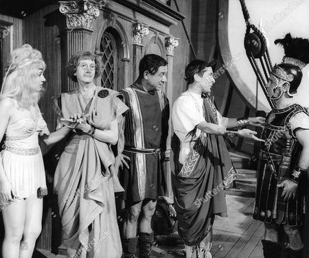 1964, Julie Stevens, Charles Hawtrey, Sid James, Kenneth Williams, Kenneth Connor, Gerald Thomas, Rank, Scene Still, Shakespeare, Landscape,