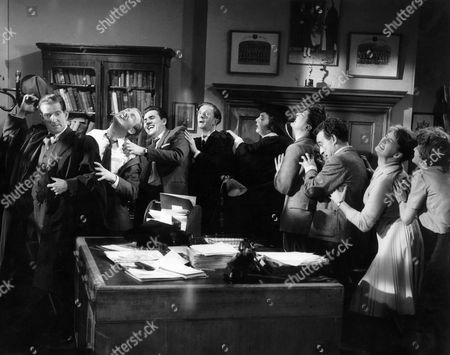 Stock Image of 1959, Ted Ray, Leslie Phillips, Cyril Chamberlain, Charles Hawtrey, Hattie Jacques, Kenneth Williams, Kenneth Connor, Joan Sims, Gerald Thomas, Anglo Amalgamated, Scene Still, Landscape,