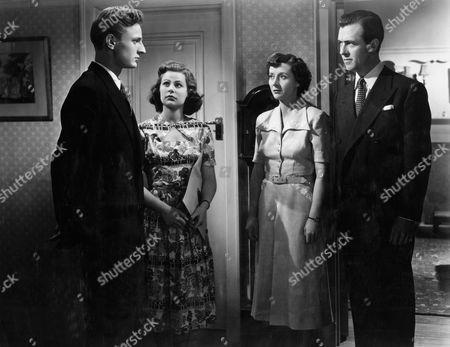 Stock Photo of 1951, John Forrest, Ann Stephens, Marjorie Fielding, Michael Denison, Associated British, Scene Still, Landscape,