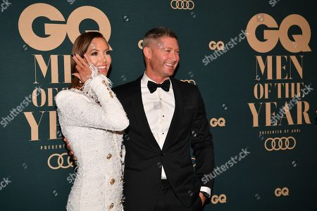 Stock Photo of Michael Clarke (R) and his wife Kyly Clarke (L)