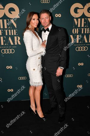 Stock Picture of Michael Clarke (R) and his wife Kyly Clarke (L)