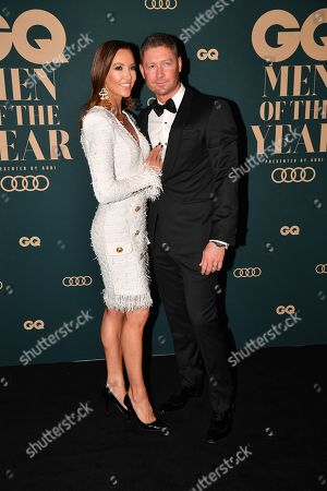 Michael Clarke (R) and his wife Kyly Clarke (L)