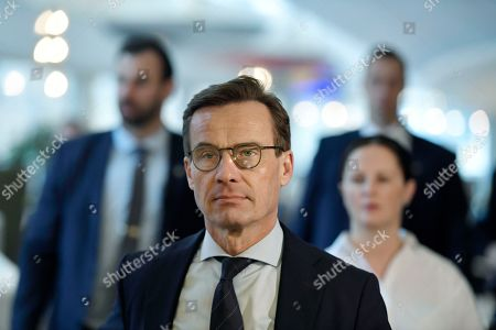 Swedish Conservative Party Moderaterna party leader Ulf Kristersson attends a press meeting after losing a vote to become Prime Minister in the Riksdag, Stockholm, Sweden, 14 November 2018. Swedish parliamentary majority voted against Kristersson with 195 votes from 349. Sweden remains in a political impass since 09 September general elections in which no party got enough votes to form a majority government.