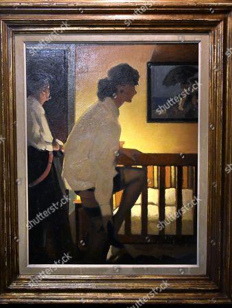Stock Image of Jack Vettriano. The Bedroom. Estimate £12,000-18,000