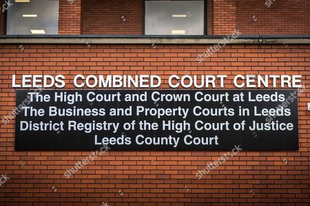 """Leeds Crown Court where notorious prisoner Charles Bronson is appearing today . Bronson age 65 """"Britain's most violent prisoner"""" is on trial at Leeds Crown Court charged with attempting to cause grievous bodily harm with intent to HMP Wakefield Governor Mark Docherty on January the 25th. Bronson is defending himself in court & is standing trial under the name Charles Salvador."""