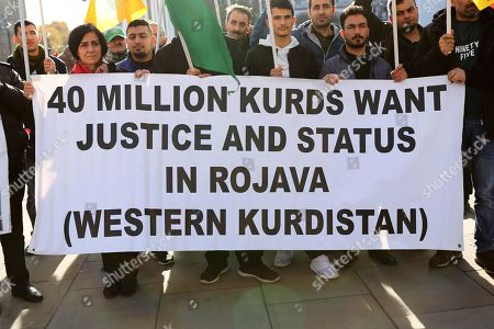 Protest against the persecution of the Kurdish people by the Turkish state, London