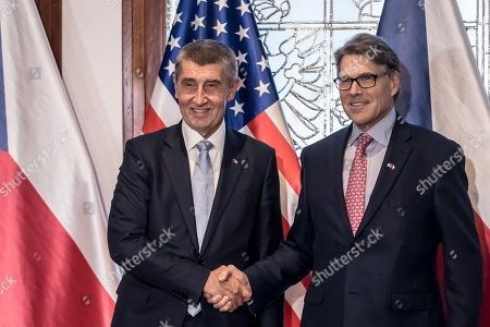 US Energy Secretary Rick Perry visit to Prague