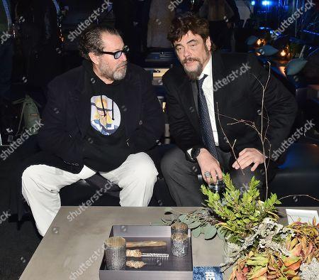 Julian Schnabel and Benicio Del Toro