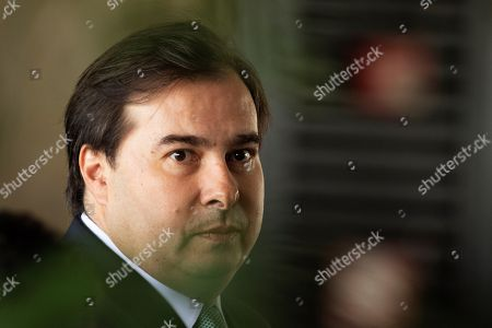 The president of the Chamber of Deputies Rodrigo Maia arrives at the Centro Cultura del Blanco in Brazil (CCBB), where the transition center of the government of the president-elect of Brazil, Jair Bolsonaro, is located, in Brasilia, Brazil, 14 November 2018. Bolsonaro, who will assume the presidency on 01 January, prepares for his transition and plans a meeting with the majority of the future governors of the 27 states to analyze the regional demands amidst the serious national fiscal deficit.