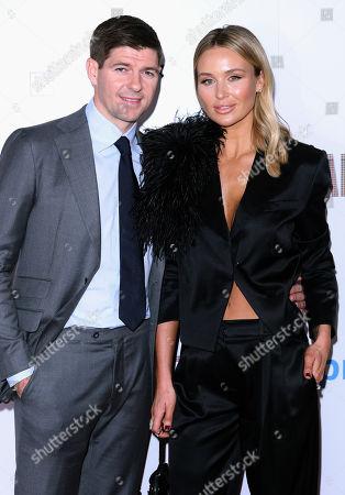 Steven Gerrard and wife Alex Curran