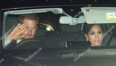 Stock Photo of Prince Harry and Meghan Duchess of Sussex