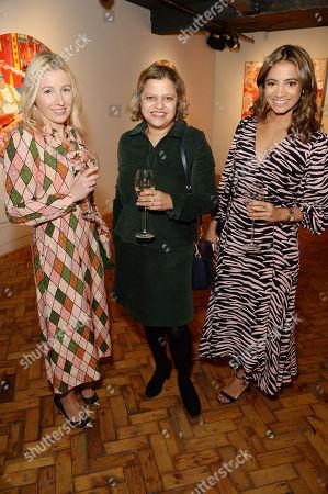 Stock Image of Susannah Garrod, Tanya Ling and Katy Wickremesinghe