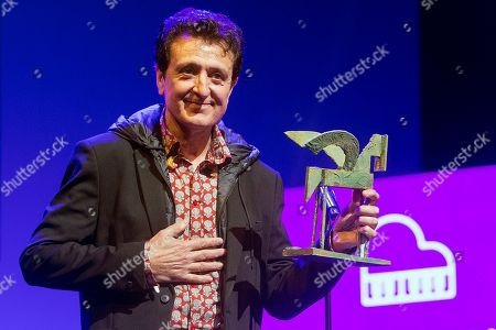 Spanish singer Manolo Garcia poses after receiving the Career Award during the Onda Award ceremony in Barcelona, Spain, 14 November 2018.