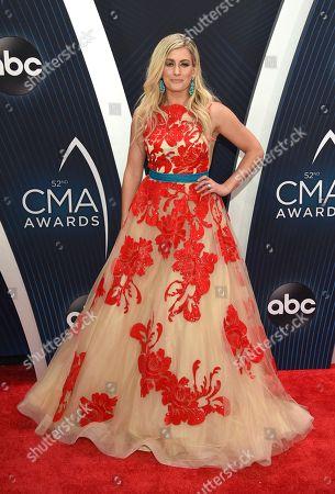 Stephanie Quayle arrives at the 52nd annual CMA Awards at Bridgestone Arena, in Nashville, Tenn